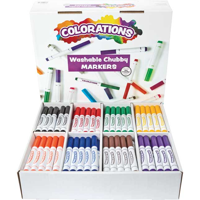 Colorations Washable Chubby Markers Set of 200