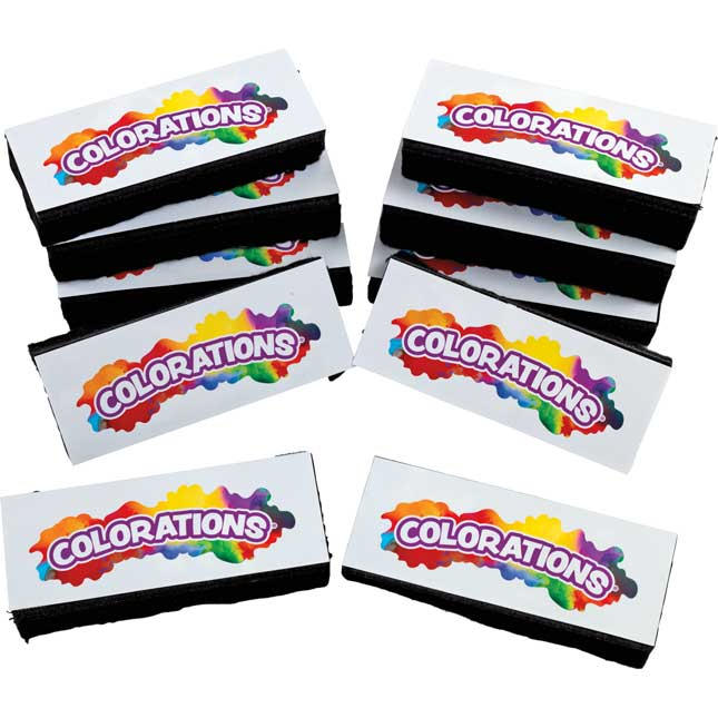 Colorations Dual Use Dry Erase Chalkboard Eraser Set of 10_0