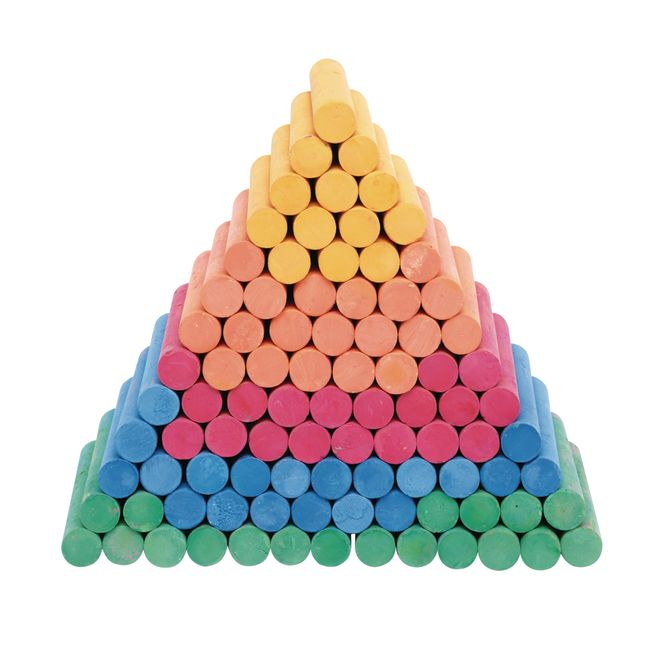 Colorations Colored Dustless Chalk 100 Pieces