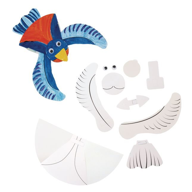 Colorations Make and Decorate Your Own Flapping Bird Set of 12