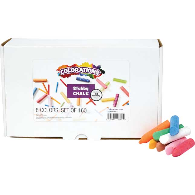 Colorations My First Stubby Chalk Set of 160