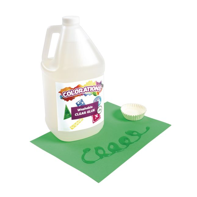 Colorations Washable Clear Glue Gallon