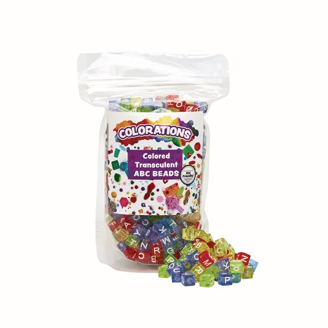Colorations Colored ABC Beads 300 Pieces