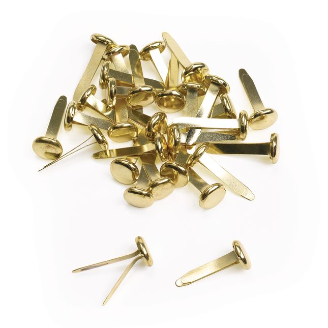 3 4  Brass Plated Paper Fasteners   30 Pieces