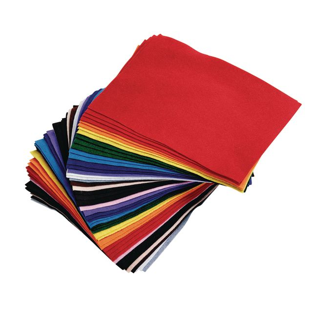 Colorations Colored Felt 9 x 12 50 Sheets