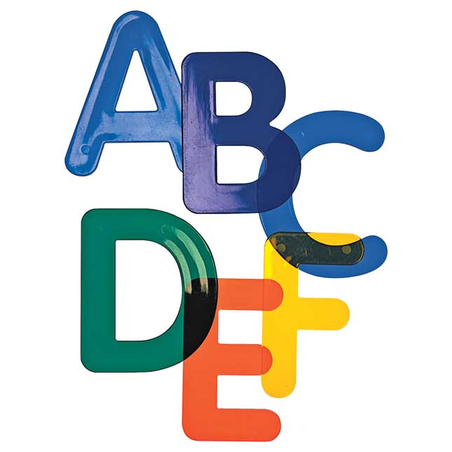 3 Jumbo Translucent Alphabet Letters for Light Table Play 26 Pieces