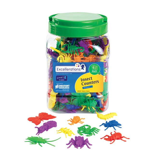 Excellerations Assorted Bug Counters   144 Pieces