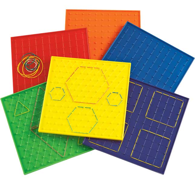 Excellerations 9 Geoboards Set of 6