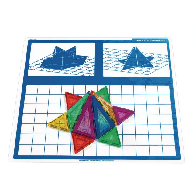 Excellerations STEM Magnetic Shapes Engineering Mats Set of 10