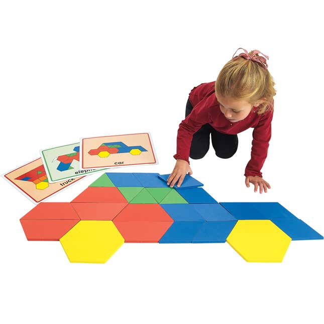 Excellerations Giant Foam Pattern Blocks 149 Pieces