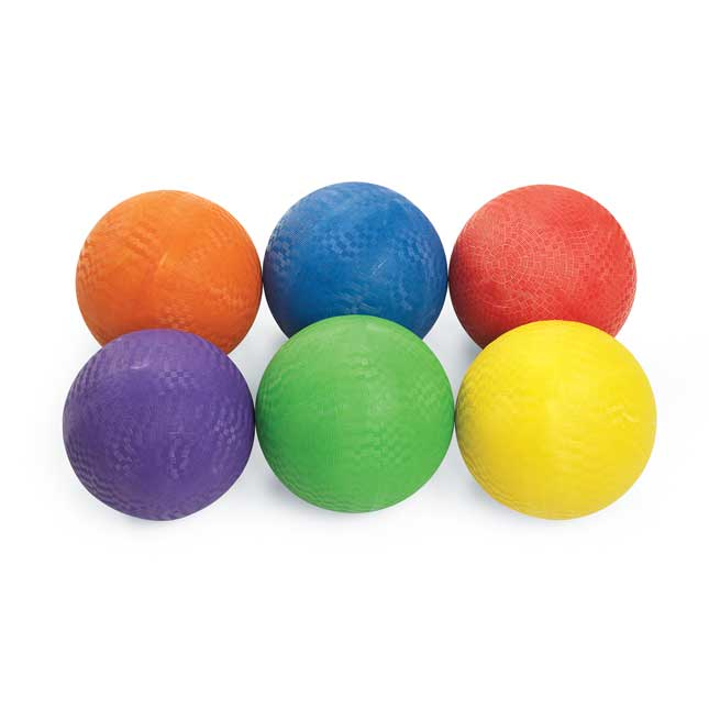Excellerations Premium Rubber Playground Balls   Set of 6