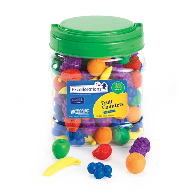 Excellerations Soft Fruit Counters   108 Pieces