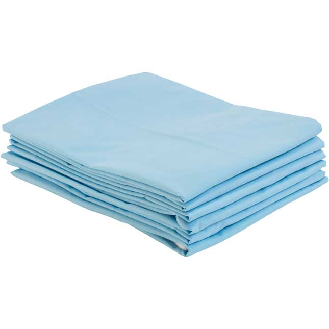 Fitted Standard Cot Sheets Blue Set of 6