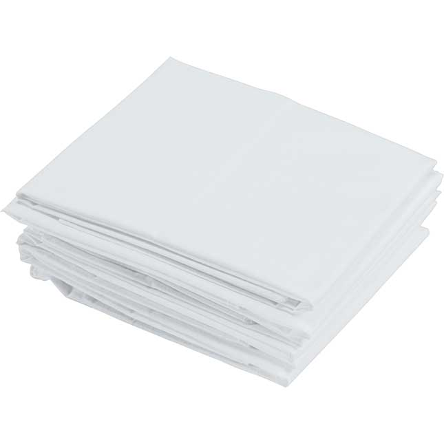 Standard Cot Sheets White Set of 6