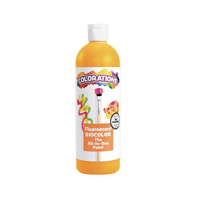 BioColor Paint Fluorescent Orange 16 oz