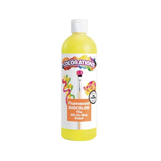 BioColor Paint Fluorescent Yellow 16 oz