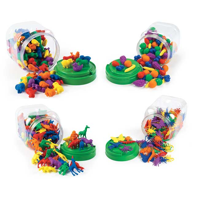 Excellerations Math Manipulatives   4 Different Sets 444 Pieces Total