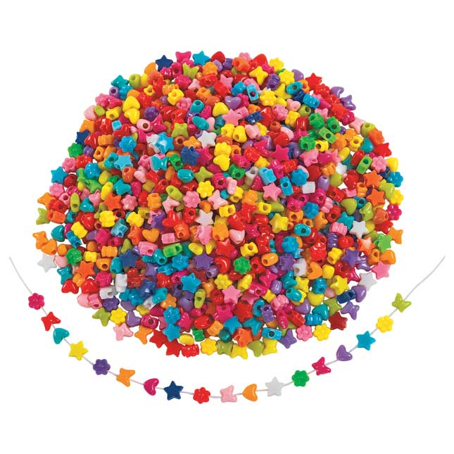 Colorations® Fun Shapes Pony Beads 1 lb._1