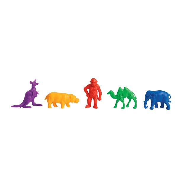 Excellerations Wild Animal Counters   120 Pieces