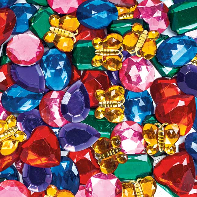 Colorations Giant Glittering Rhinestones 1 lb