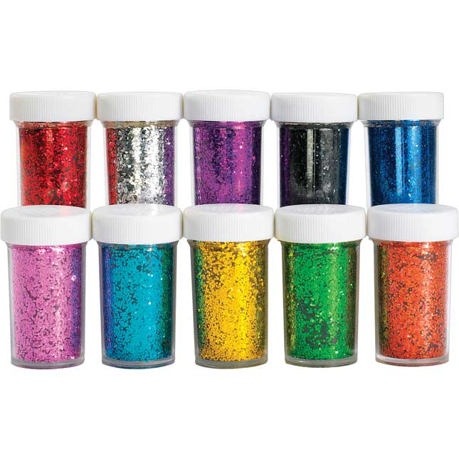 Colorations Glitter Jars Classroom Pack Set of 30