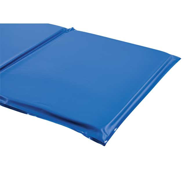 """1"""" Germ-Free Two-Tone Blue Rest Mats - Set of 12"""