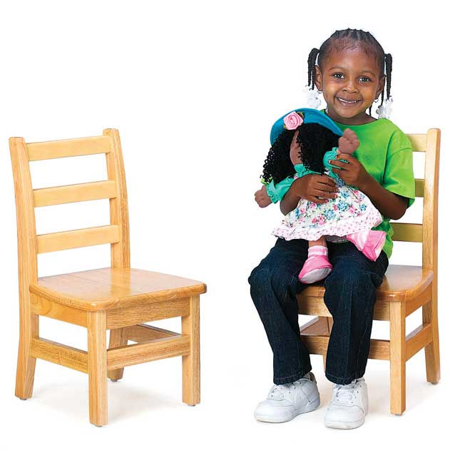 "12"" Assembled KYDZLadderback Chairs - Set of 2"