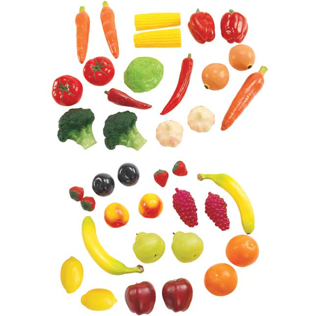 Life Sized Fruit and Veggies 38 Pieces