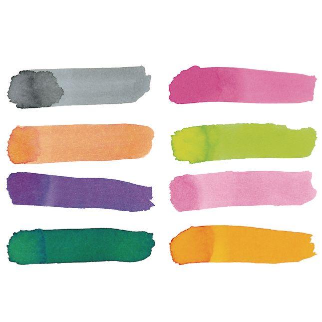 Colorations Tropical Colors Liquid Watercolor Paint 8 oz  Set of 8