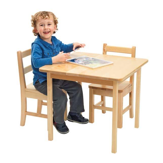 "24"" x 24"" Maple Laminate Table - 18""H"