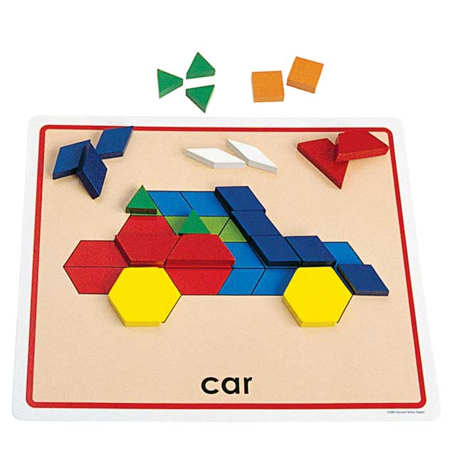 Excellerations Pattern Block Picture Cards Set of 20