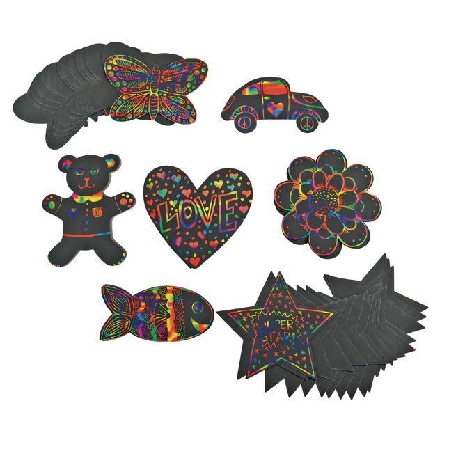 Colorations Scratch Designs Shapes Set of 98