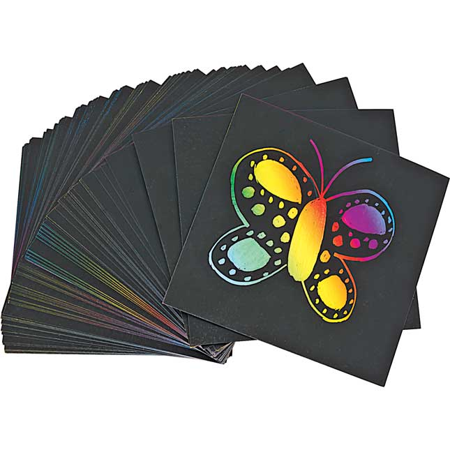 Colorations Scratch Designs Boards Set of 100