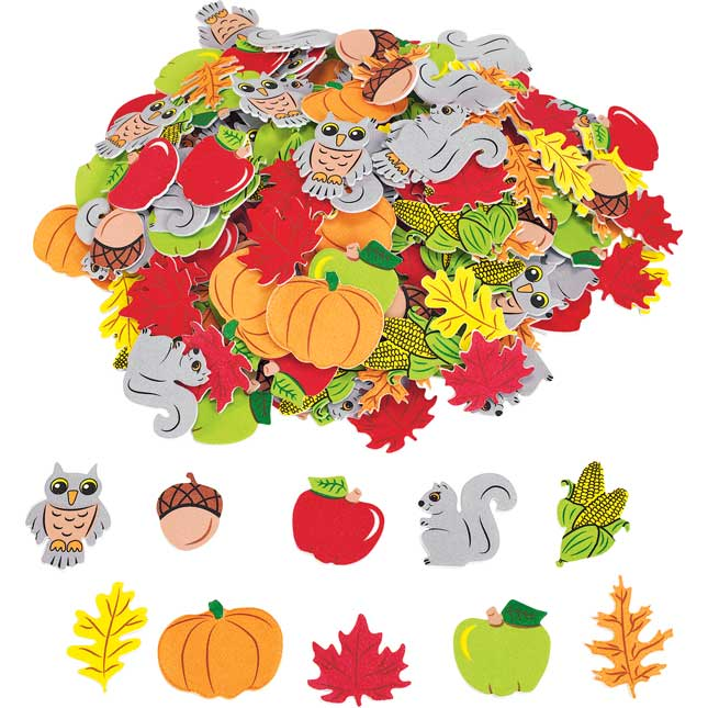 Colorations Self Adhesive Festive Fall foam 300 Pieces