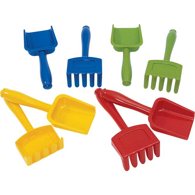 Excellerations Shovels and Rakes Set of 8