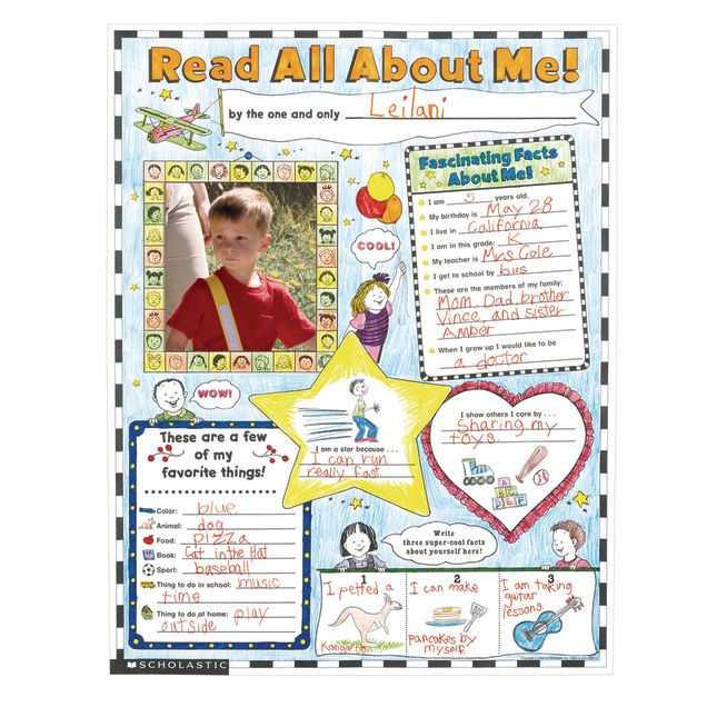 All About Me Posters   Set of 30
