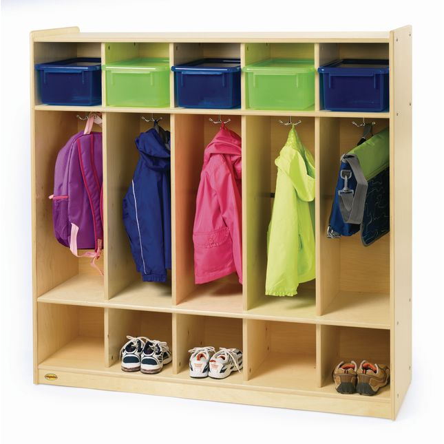 Angeles Value Line Birch 5-Section Preschool Locker - 1 locker