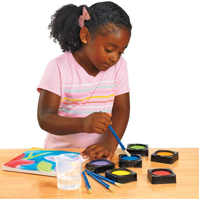 Colorations 36 Individual Tempera Cake Classroom Pack
