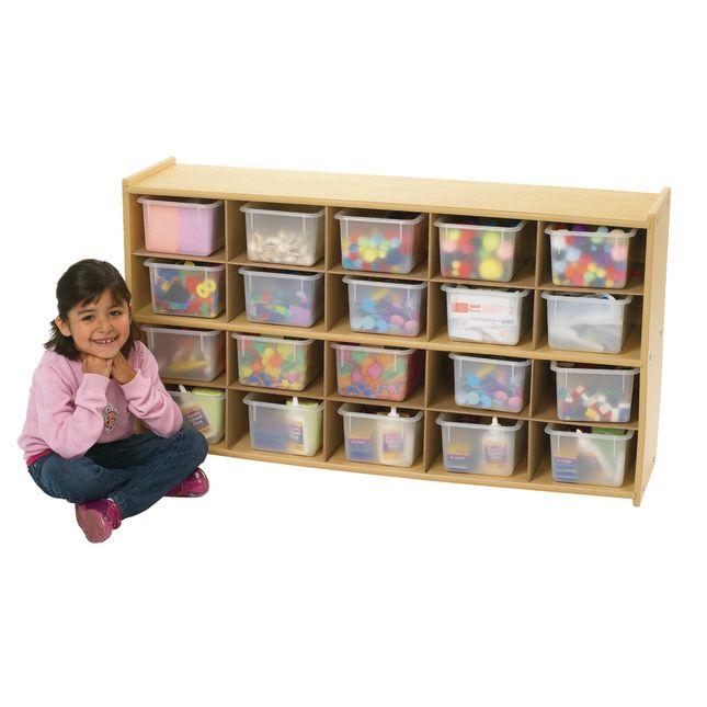 """Angeles Value Line Cubbie Storage  47-3/4""""W, With Clear Trays - 1 storage"""