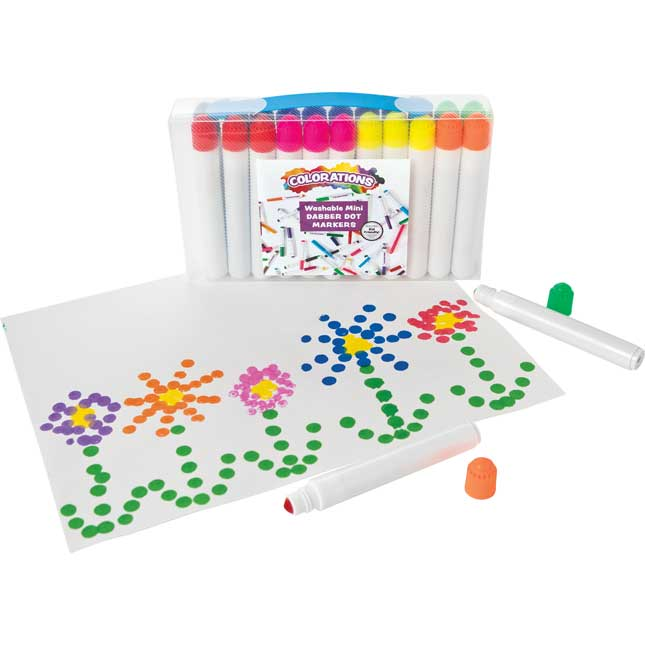 Colorations Mini Dabber Dot Markers Set of 24