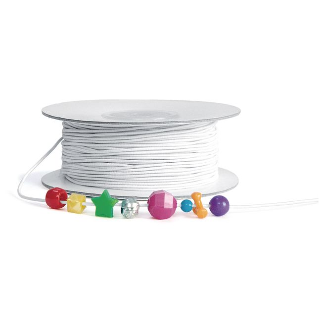 Colorations White Beading Elastic 100 Yards