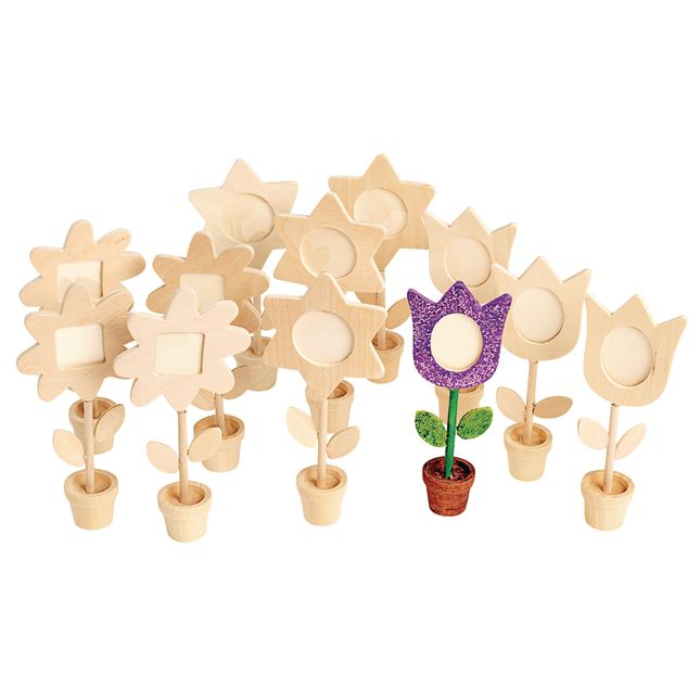 Colorations Wooden Flower Pot Frames Set of 12