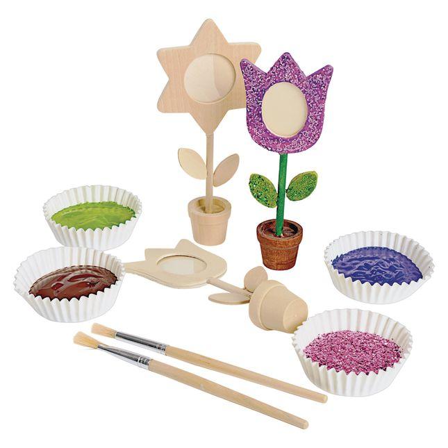 Colorations® Wooden Flower Pot Frames - Set of 12_6