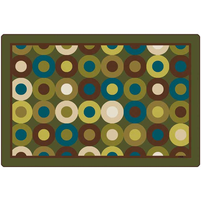 Calming Circles 4' x 6' Rectangle Premium Carpet - 1 carpet
