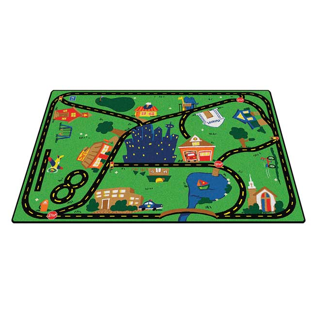 """Cruisin' Around the Town 3'10"""" x 5'5"""" Rectangle Premium Carpet - 1 carpet"""