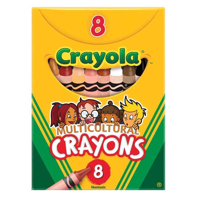 Crayola Multicultural Crayons   Set of 8