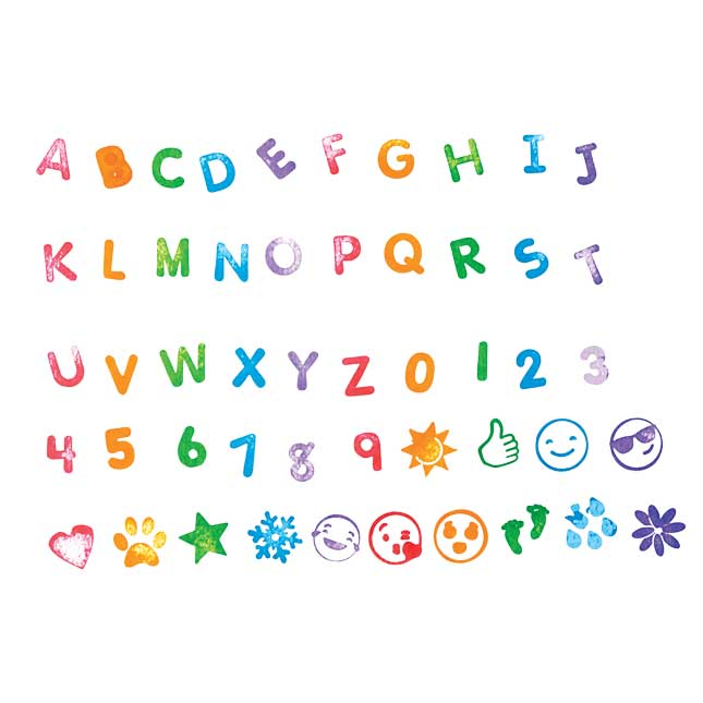 Colorations Letters and More Self Stampers   50 Stampers