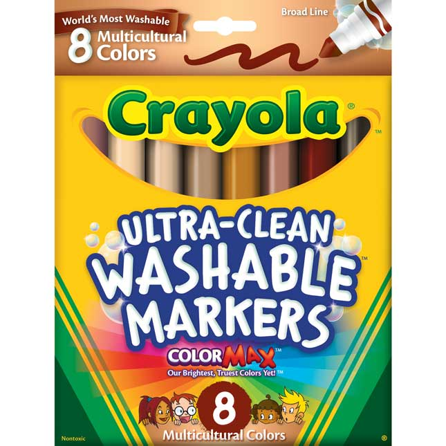 Crayola Multicultural Ultra-Clean Washable Markers - 8 crayons_0