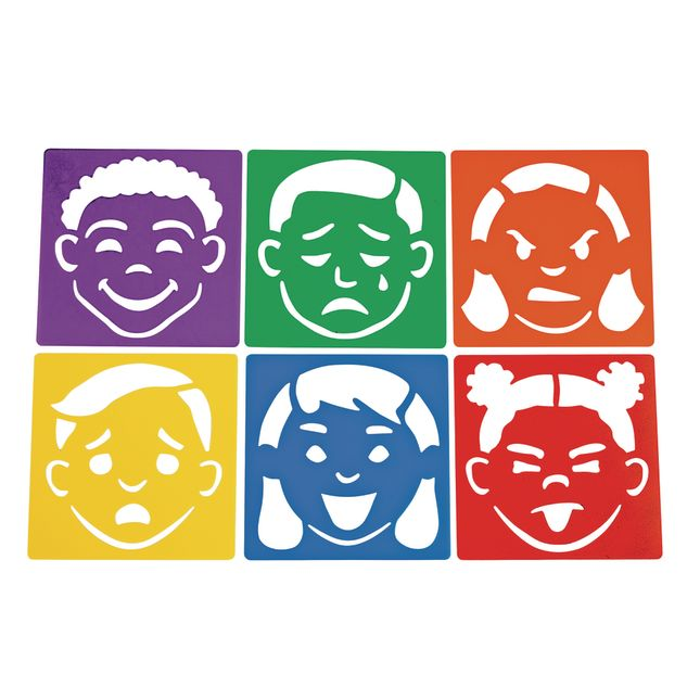 Emotional Stencils Set of 6