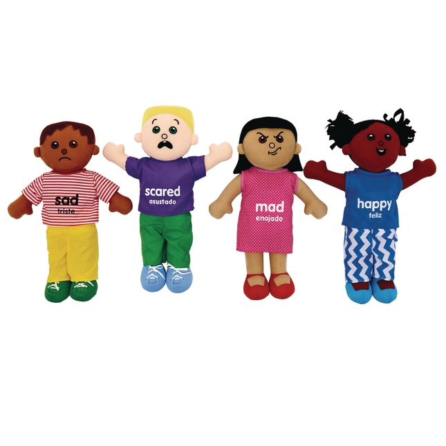 Excellerations Emotions Plush Dolls   Set of 4